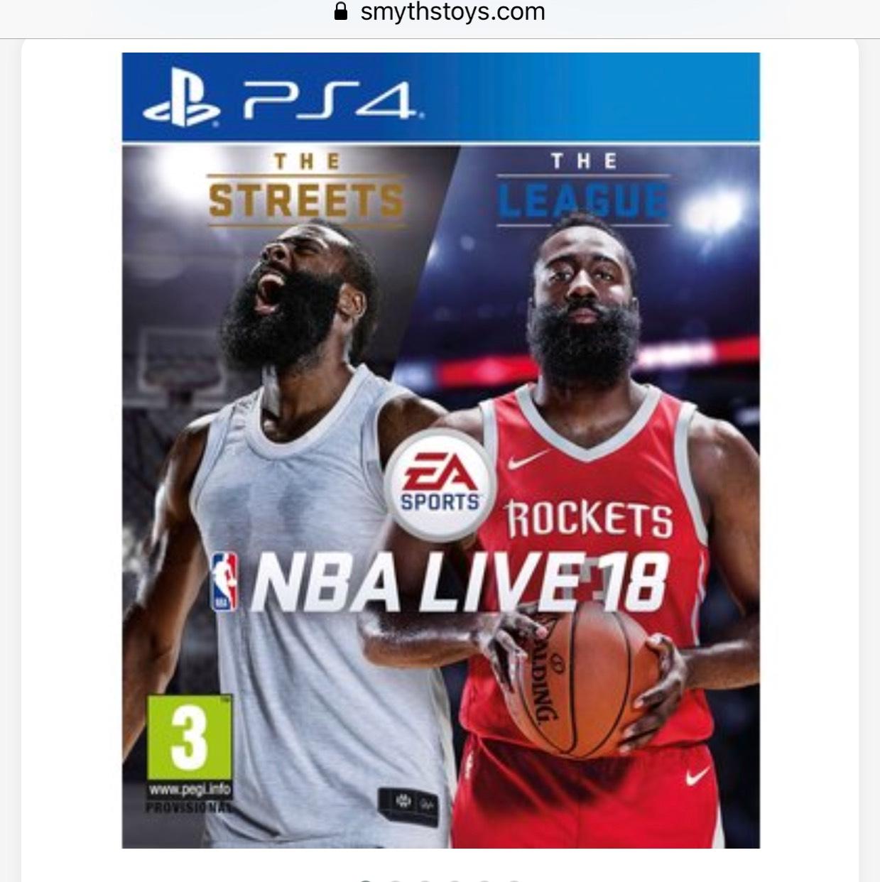 NBA 18 Live PS4 Smyths Toys - £19.99