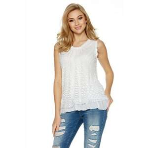 White mesh double layered vest top was £22.99 now £4.99 @ debenhams
