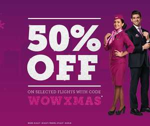 50% off selected flights with WOW Air