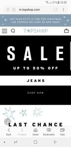 Topshop up to 50% off sale now live. Free standard delivery. Includes brands such as adidas and ivy park