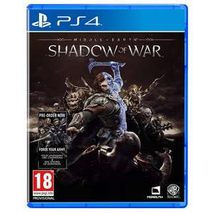 Middle-Earth Shadow of War | PS4 and XBox One - £29.99 @ Smyths