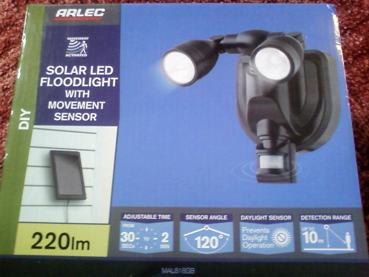Arlec Solar Powered Led Twin Garden Light From Homebase - £4.50