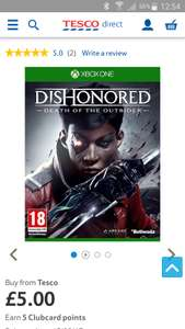 Dishonored death of the outsider (Xbox one) - £5 @ Tesco