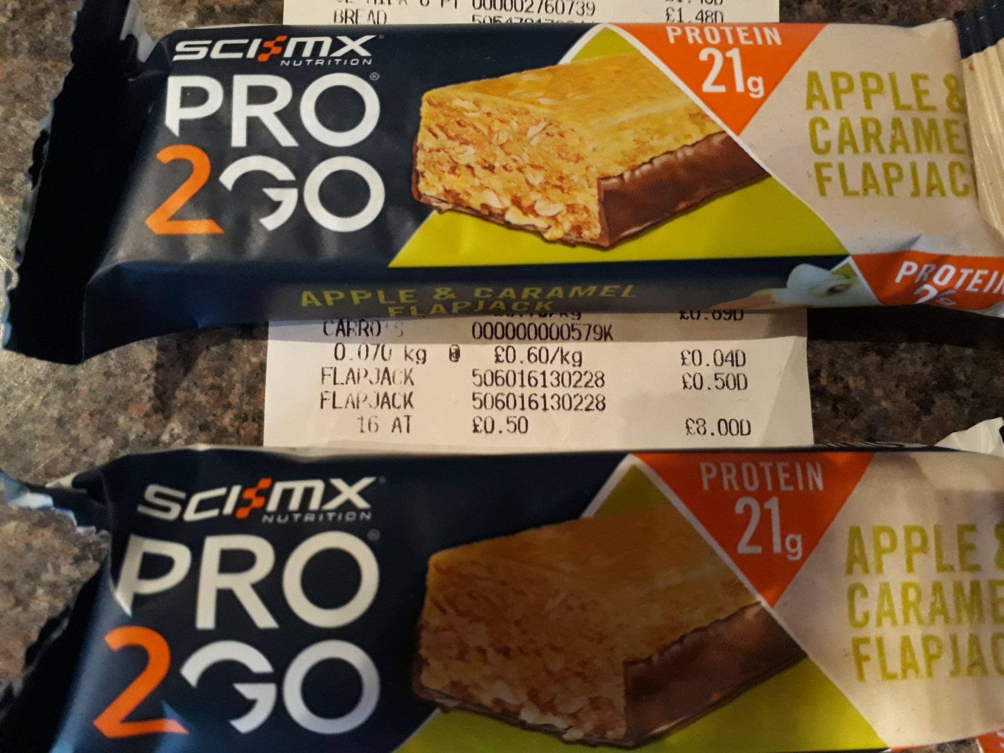 Sci mx pro2go protein flapjacks 50p instore @ asda