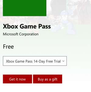 Free Xbox 14 day game pass @ Microsoft Store