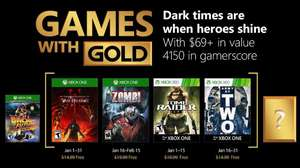 January's Games with Gold (The Incredible Adventures of Van Helsing III / Zombi / Tomb Raider Underworld / Army of Two)