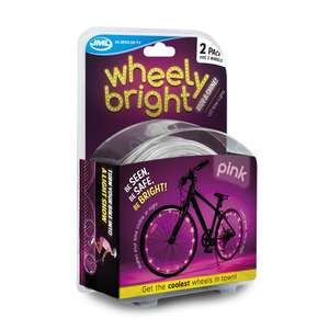 JML Wheely Bright LED Bike Wheel and Frame Lights Pink 2pk - £10 @ Wilko