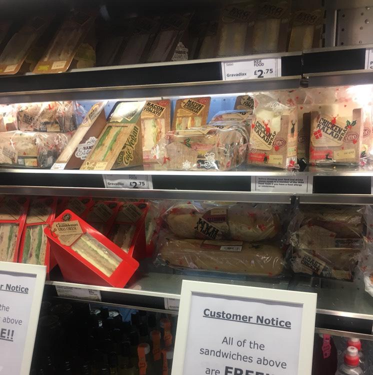 Free sandwich ikea Leeds