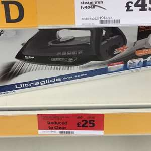 Tefal 2660 ultra glide iron, reduced from £59.99 - £25 instore @ Sainsbury's