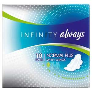 Always Infinity Normal, £0.13 at Lloyds Pharmacy and free click and collect