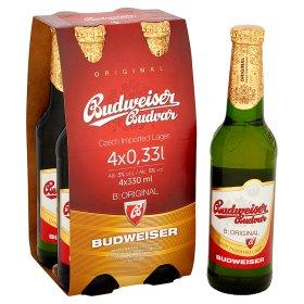 Budweiser Budvar Original Lager  4 x 330ml bottles  £2.00  Asda