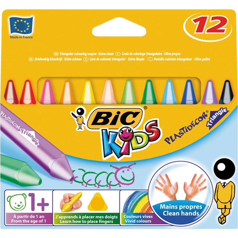 Bic Kids Plastidecor Triangle Colouring Crayons 12pk £1.50 @ Wilko