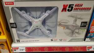 X5 Syma Drone remote control quadcopter reduced from £45 to £18.60 at Halfords