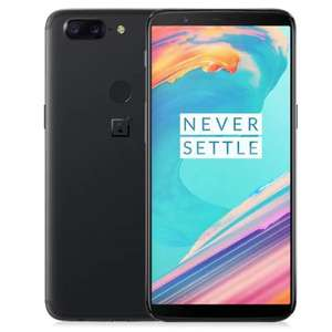 """OnePlus 5T 4G Phablet, Android 7.1, 6.01"""", Snapdragon 835 Octa Core 2.45GHz, 8GB/128GB, 16.0MP + 20.0MP, International Version, BLACK, Fingerprint Scanner, Full Optic AMOLED, 3300mAh, Email Price £421.51 @ Gearbest"""