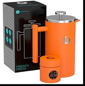 French Press Coffee Maker 1 litre in orange Sold by CoffeeGator and Fulfilled by Amazon for £37.99