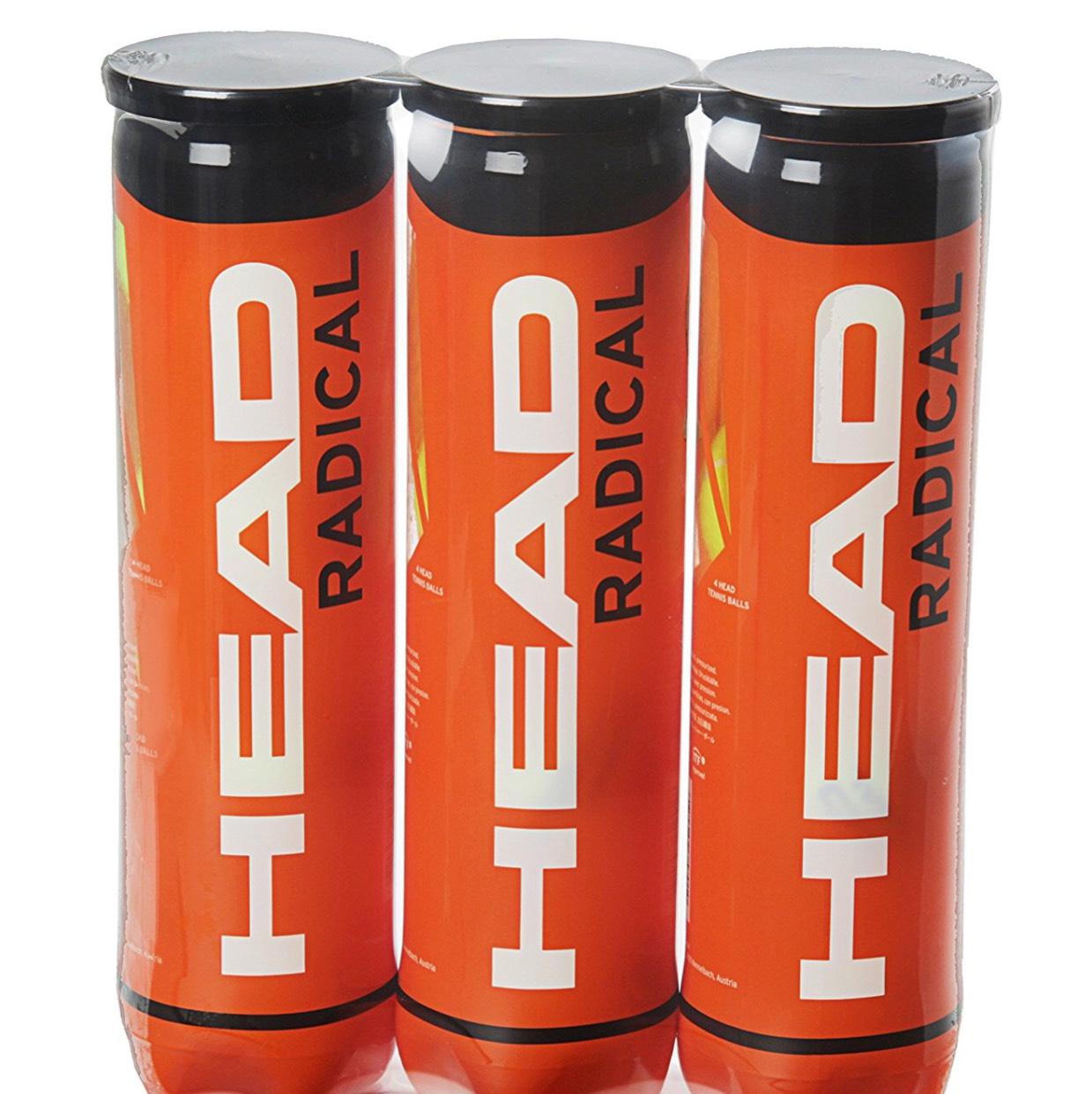 Head Radical Tennis Balls 3x4 at Amazon for £9.29 Prime (£12.28 non Prime)