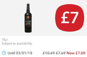 Taylor's Select Reserve Port further reduced to £7.00,  75cl at Co-Op