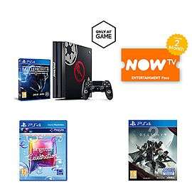 Sony Playstation 4 Pro Star Wars Battlefront 2 Limited Edition 1TB Console + Singstar Celebrations + Destiny 2 + Now TV 2 Months Entertainment Pass inc. free delivery £317.99 @Game