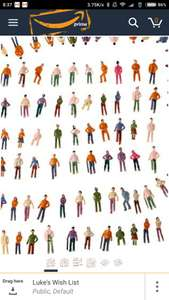 100Pcs OO Scale 1:75 Mix Painted Figures - Amazon Prime - £5.51 (£9.50 Non Prime) - Lightning Deal @ Sold by rosmii and Fulfilled by Amazon.