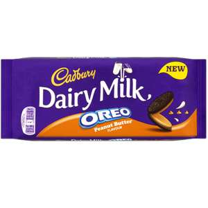 2 X Cadbury Dairy Milk Oreo with Peanut Butter 120g for £1 at Heron Foods
