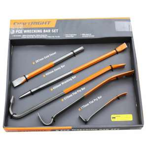 Craftright Wrecking Bar Set - 5 Piece at homebase for £5