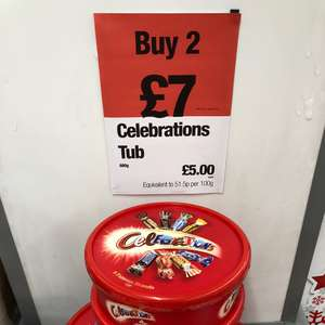 Celebrations 680g tubs 2 for £7 Co-Op Food