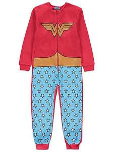 Girls DC Comics Wonder Woman Onesie with Cape age 4yr-14yrs was £12 now £5 / DC Comics Batgirl Hooded Onesie 9yrs -14yrs was £12 now £5 C+C @ Asda George