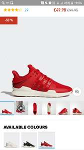 Adidas EQT trainers half price, was £99.95, now £49.98. Adidas end of season sale.