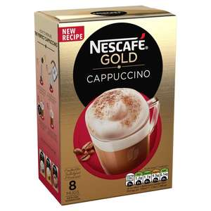 Nescafe Gold Cappuccino Coffee 8 Sachets half price @ Ocado for £1.25