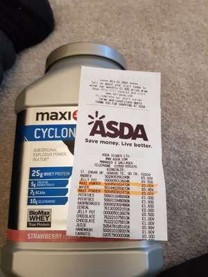 Maximucle cyclone strength £5 in Asda store