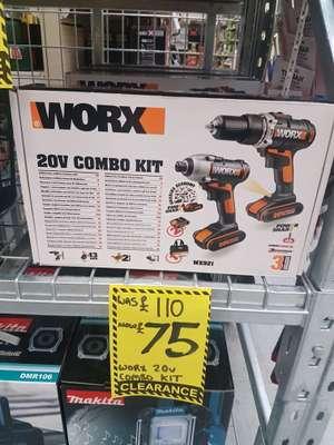 Worx 20v combo drill and driver kit £75 (down to £63 using 15% voucher) @ Homebase - Sutton coldfield, Birmingham
