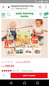 Happyland bumper village set £60 @ ELC
