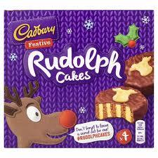 Cadbury's Rudolph Cake (pack of 4) 75p @ Heron Foods