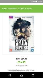 Peaky blinders seasons 1-3 £16.99 @ zavvi