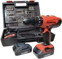 Maktec by MAKITA 18V Cordless Combi drill, 2 x 1.5Ah Li-ion batts & Kit Box @ CPC Farnell £71.93