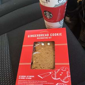 Free Gingerbread cookie kit when you purchase a Christmas drink @ Starbucks - Stafford