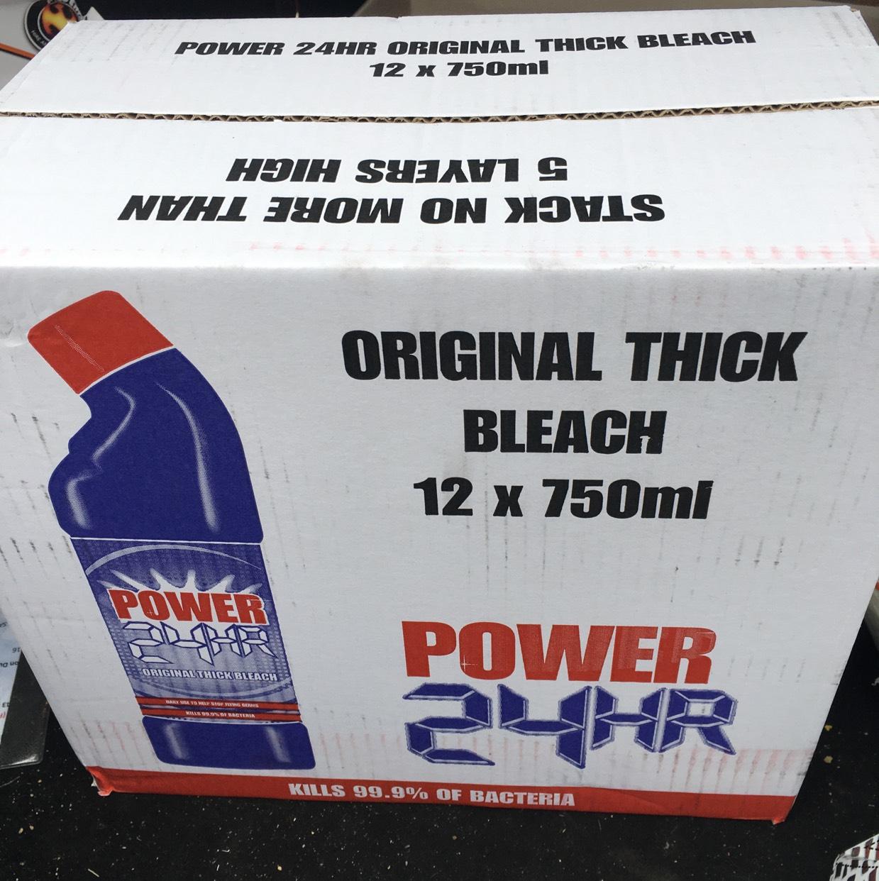 Power 24hr bleach 12 X 750 £3.49 @ Costco instore