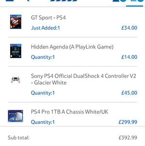 PlayStation 4 pro bundle deal £299.99 @ Tesco