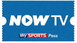 Now TV 1 Month Sports Pass 50% off with voucher. Was £33.99, now £16.99.