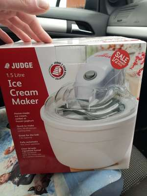 Judge 1.5 litre ice cream maker 1/2 price *local deal* - £14.99 instore @ Booths