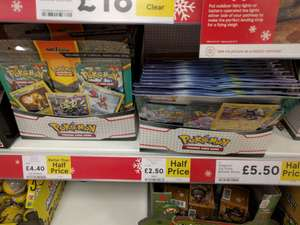Pokemon Trading cards half price - £2.50 in Tesco