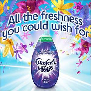 Comfort Intense Fabric Conditioner Floral Elixir, 228 Washes (38 Washes x Pack of 6) £3.18 Amazon s&s BE QUICK