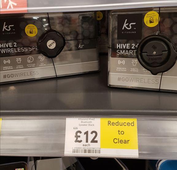Kitsound hive 2 speaker £12 @ Tesco instore