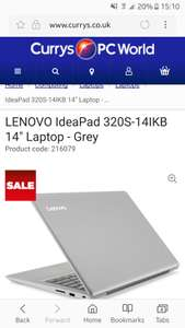 "Lenovo IdeaPad 320s Laptop - 14"" Full HD, Intel i5, 8GB, 128GB SSD - £479.99 @ Currys"