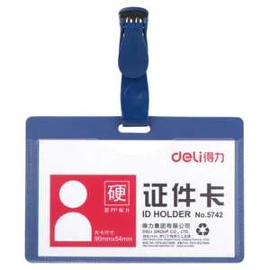 Security ID card holder, ( make your own clearance badge for Hawkins Lab ) 0.59p delivered @ gearbest