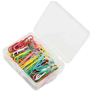 Metal Colorful Paper Clips box of 100.... 0.66p delivered or 0.59p if using app @ gearbest.