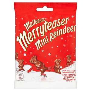 Maltesers Merryteaser Mini Reindeer 59g bags-3 for £1 at Heron Foods