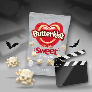 Butterkist Cinema Sweet Popcorn 100g  are only 2 FOR £1 @ Heron Foods!