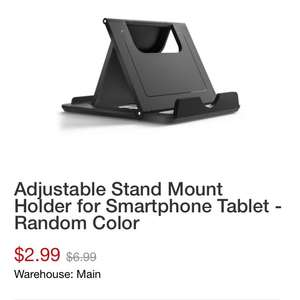 FREE!! Adjustable Stand Mount Holder for Smartphone Tablet - Random Color £2.99 postage @ Zapals