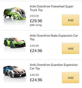 Anki Overdrive super cars and trucks - Half price from £24.96 @ Amazon Prime Now